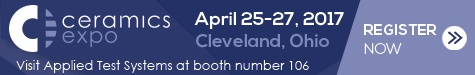 Visit Applied Test Systems at Ceramics Expo 2017
